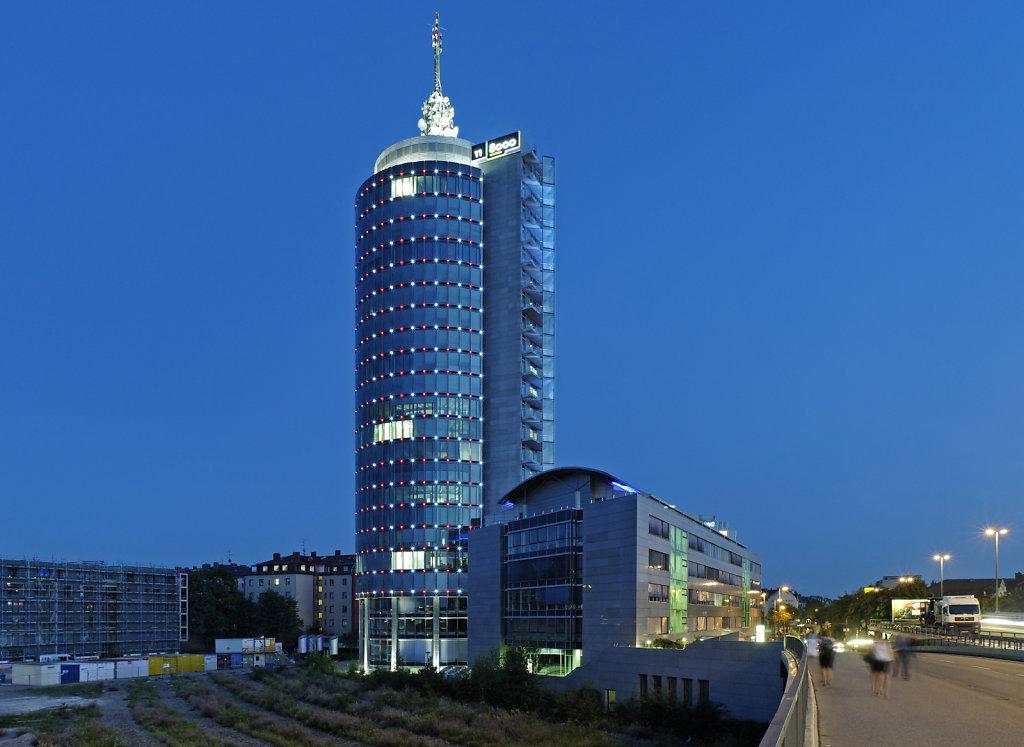 Central Tower München, Architekt Heinz Musil, Lichtplanung Lumen3