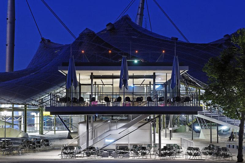 Architekturfotografie München restaurant coubertin olympiagelände münchen
